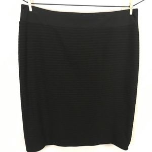Style & Co Knit Knee Length Skirt 2X Black Texture